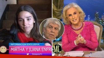 Juana Viale aclaró su retweet por el collar que Hugo Moyano le regaló a Mirtha Legrand