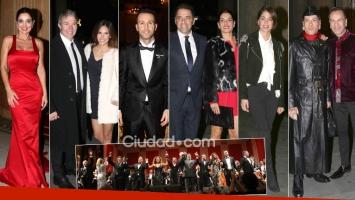 Parejitas y famosos en una gala de la música en el Teatro Colón.