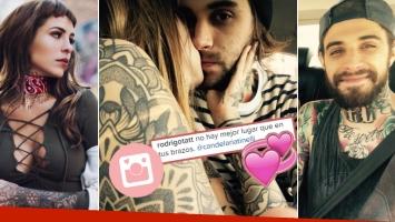 Candelaria Tinelli y su tatuador dándose un beso (Foto: Instagram)