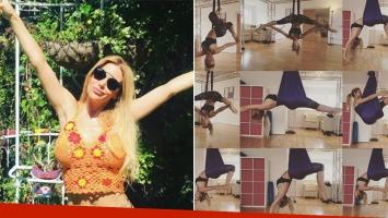 Evangelina Anderson mostró fotos de su novedoso entrenamiento en Instagram.