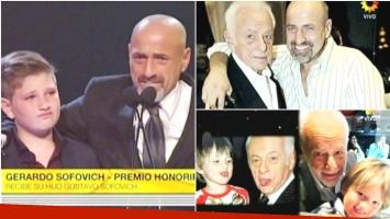Gerardo Sofovich fue homenajeado con el Premio Honorífico (Fotos: Captura)