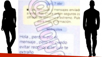 El chat en el que Carolina Nuin intenta reconquistar a Fabián Doman (Fotos: Web y Twitter)