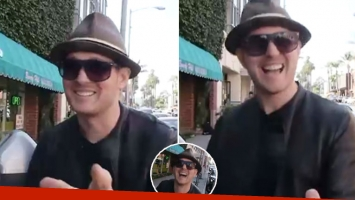 La divertida broma de Michael Bublé a un paparazzi en las calles de Beverly Hills.