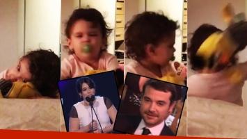 La reacción de Olivia al ver por TV que Pedro Alfonso no ganó el Martín Fierro (Foto: Instagram y web)