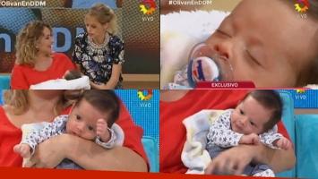 María Julia Oliván presentó a su hijo en El Diario de Mariana.