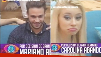 Mariano y Carolina, eliminados de GH 2016 por decisión de la producción (Fotos: Captura)