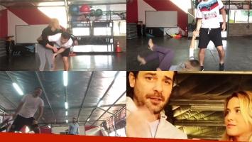Los divertidos y accidentados ensayos de Pedro Alfonso y Flor Vigna. Fotos: Twitter.