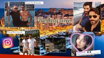 Nacho Viale, un bon vivant en el Grand Prix de Mónaco. Foto: Instagram)
