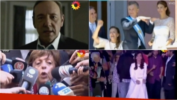 Los personajes de House of cards en la apertura de ShowMatch. Foto: Captura