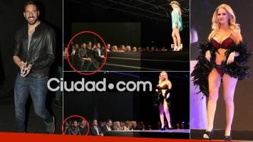 Ale Maglietti desfiló súper sexy y Jonás Gutiérrez la aplaudió (Foto: Movilpress)