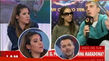 El incómodo cruce de Gianinna Maradona y El Polaco en Los Angeles de la Mañana