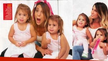 Cinthia Fernández compartió una publicidad con sus mellizas. (Foto: revista Paparazzi)