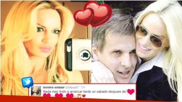 El romántico mensaje de Luciana Salazar en Twitter (Fotos: Web)