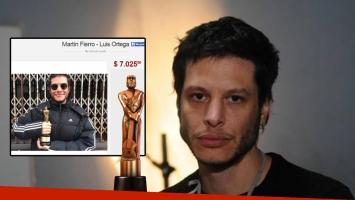 Finalmente, ¿Luis Ortega vendió el Martín Fierro que ganó en Internet? (Foto: web)