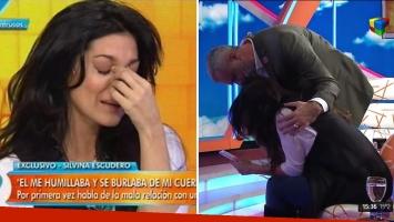 Silvina Escudero se quebró al finalizar el relato de la violencia de género sufrida