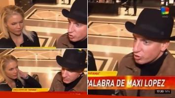 Maxi López, en Argentina con su novia. Foto: Captura TV.