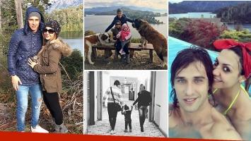Tamara Alves, Patricio Toranzo y su hija Giuliana se tomaron vacaciones en Bariloche. (Foto: Twitter e Instagram)