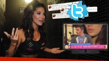 El reacción 2.0 de Silvina Escudero tras la nota de Martín Amestoy en TV (Foto: web y Twitter)