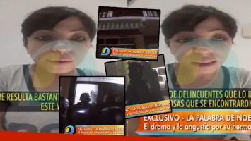 Noelia Pompa, tras la detención de su hermano (Foto: web)