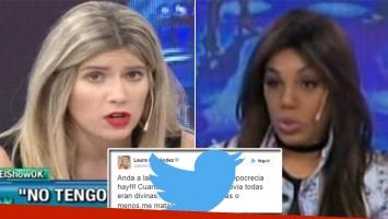 Laurita Fernández y Mimi se mataron en Twitter. Fotos: Web y Twitter.