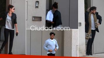 Pampita y Pico Mónaco, juntos en la casa de la modelo. Fotos: Movilpress-Ciudad.com.