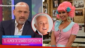 Gustavo Sofovich, comprensivo con las críticas de Florencia Peña al humor de Gerardo: