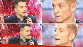 El momento de tensión de Martín Liberman con Ángel de Brito en ShowMatch (Fotos: Captura)