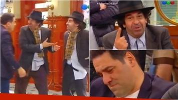 Miguel Ángel Rodríguez y su hijo sorprendieron en Polémica en el bar. Foto: Captura