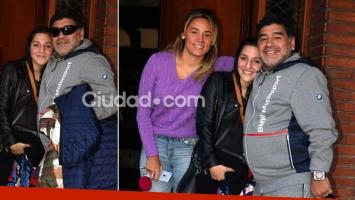 Así festejó Diego Maradona su Día del Padre: almuerzo con Rocío y Jana, y merienda con Dalma y Gianinna