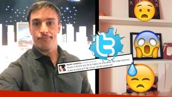 Martín Amestoy fue a su casa paterna y se llevó una inesperada sorpresa (Foto: Twitter)