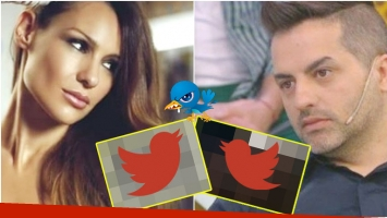 Cruce de mensajes en Twitter entre Ángel de Brito y Pampita Ardohain (Fotos: Web)