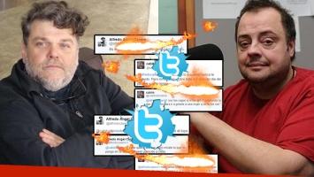 Alfredo Casero y Cabito Massa Alcántara se curzaron en Twitter (Foto: web y Twitter)