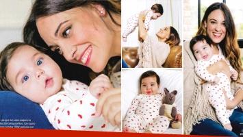 Martina Gusmán y su beba Lucero. Foto: revista ¡Hola! Argentina.