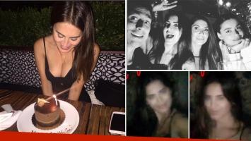 Silvina Luna festejó su cumpleaños con amigos en Nueva York con un súper escote. Foto: Web