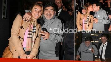 Rocío Oliva, Diego Maradona y Matías Morla cenaron juntos en el 30 aniversario de La mano de D10s. (Foto: MovilPress - Ciudad.com)