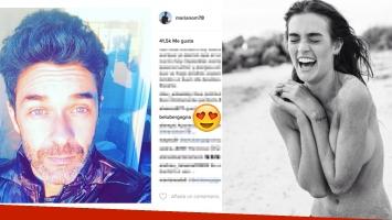El mensaje de Belén Bergagna para Mariano Martínez en Instagram.