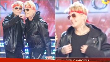 Alexander Caniggia reapareció en ShowMatch con su doble (Fotos: Prensa Ideas del Sur y Web)