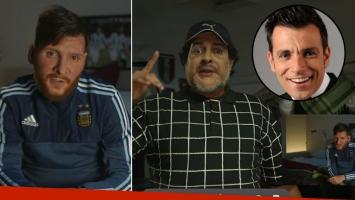Martín Bossi se puso en la piel de Maradona y Messi (Foto: Youtube)