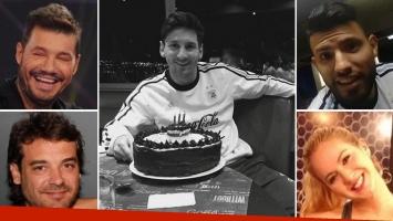 Los famosos saludaron a Lionel Messi en su cumpleaños. Foto: Twitter.