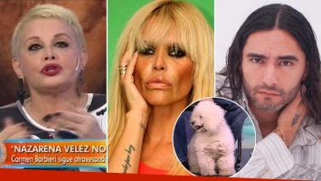 La verdad detrás de la acusación de Carmen Barbieri a Nazarena Vélez de matar al perro de Daniel Agostini