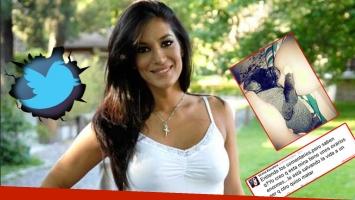 Silvina Escudero y una foto que generó polémica en Twitter. Foto: Web