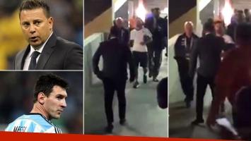 El video del emotivo abrazo y la charla secreta entre el Turco Mohamed y Lionel Messi