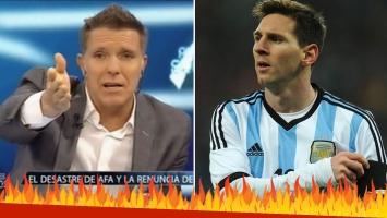 Alejandro Fantino, furioso con la Selección Argentina.