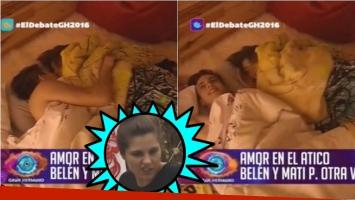 La noche de sexo de Belén y Matías P. en Gran Hermano 2016. Foto: Captura