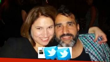 El tweet que tiene fijado en su muero el marido de Fernanda Iglesias (Foto: Twitter y web)