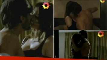 La escena de sexo de Juan Darthés y Araceli González en Los ricos no piden permiso. Foto: Captura
