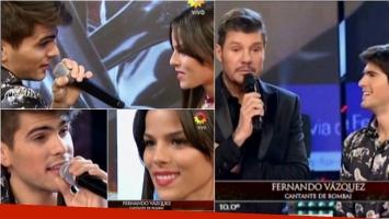 Fer Vázquez de Rombai cantó en ShowMatch. Foto: Captura