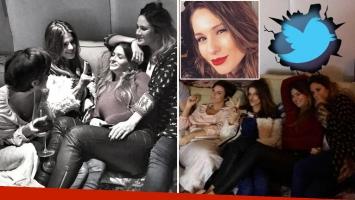 La foto de María del Cerro y sus amigas, ¿con palito para Pampita incluido?