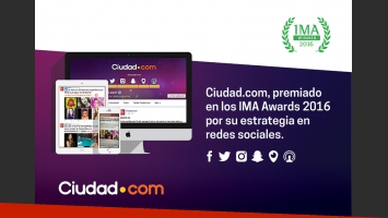 Ciudad.com, premiado en los IMA Awards 2016.