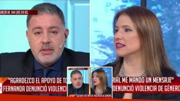 Feroz pelea en vivo de Fernanda Iglesias con Doman.